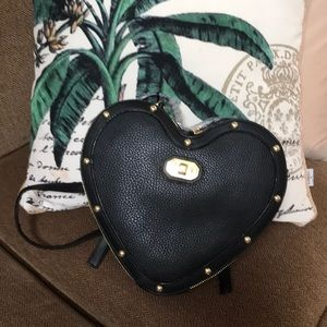 Juicy couture NWT black heart shaped back pack